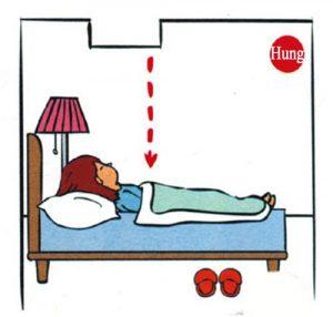 Tối kị kê giường ngủ dưới thanh xà ngang, phong thủy kê giường ngủ, kê giường ngủ đúng cách, đặt giường ngủ vợ chồng đúng cách