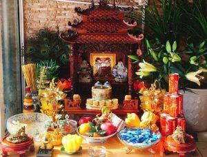 Ban thờ thần tài, cách cúng thần tài, thần tài, bố trí ban thờ thần tài, Bàn thờ thần tài, sắp xếp bàn thờ thần tài, bố cụng bàn thờ thần tài, cách bày bàn thờ thần tài đúng
